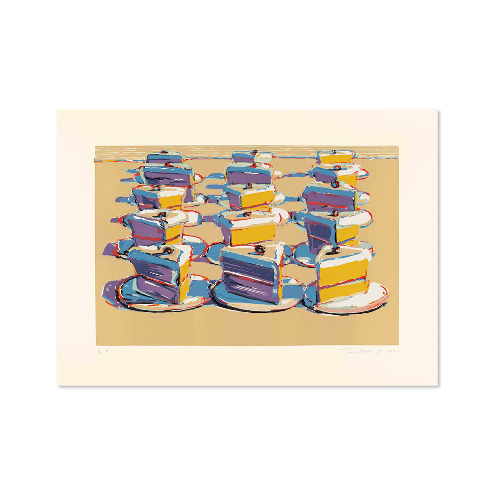 웨인 티보 WAYNE THIEBAUD 002 Boston Cremes, from Seven Still Lifes and a Silver Landscape
