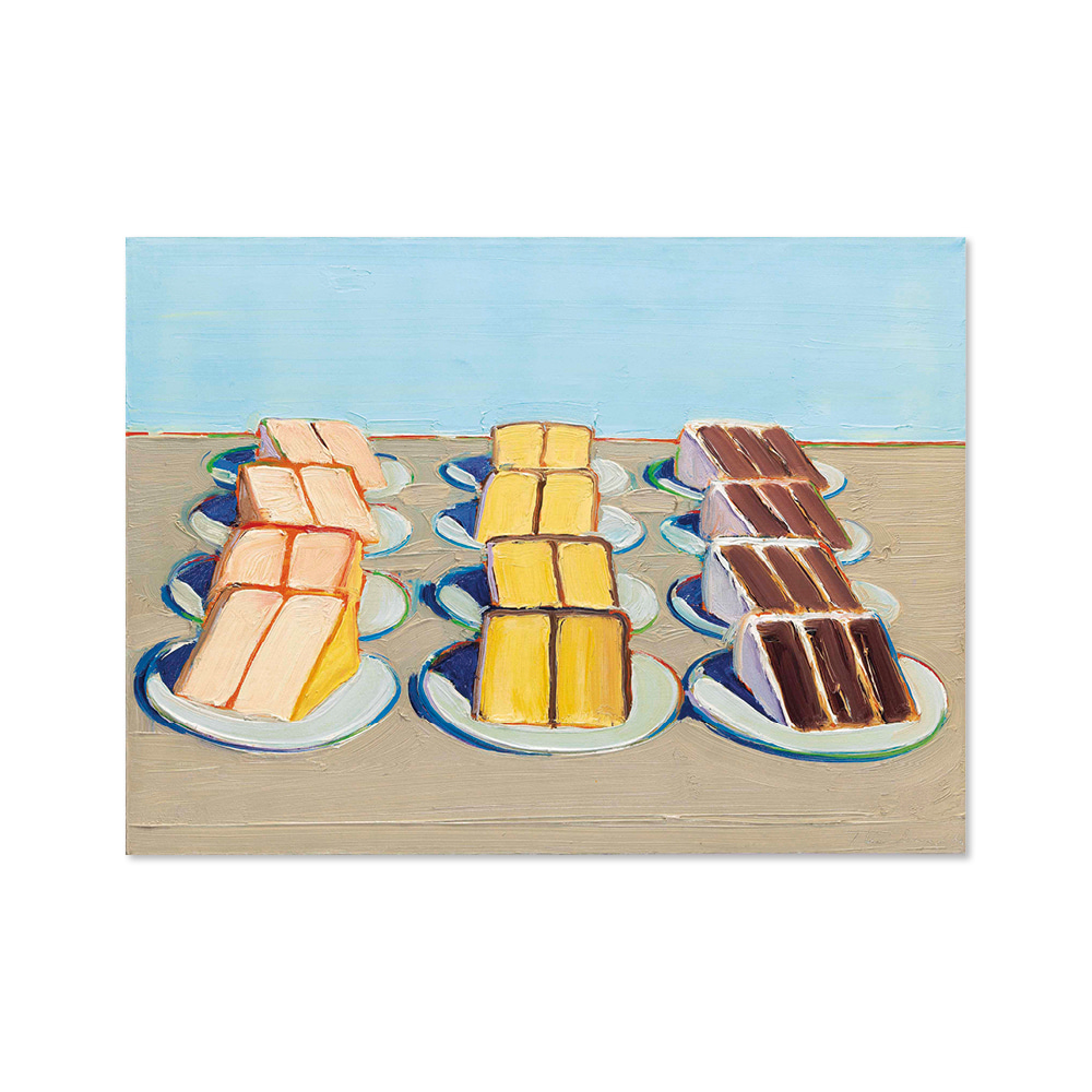 웨인 티보 WAYNE THIEBAUD 005 Cake Rows