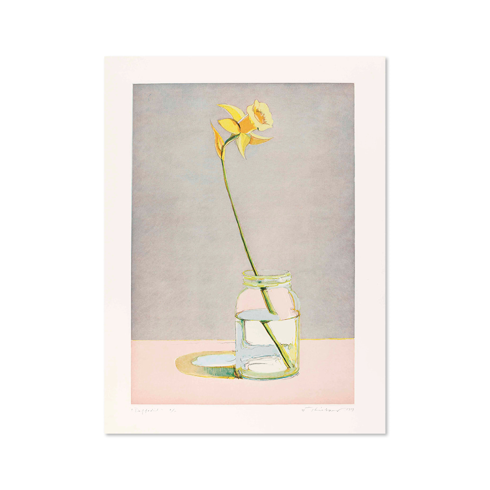 웨인 티보 WAYNE THIEBAUD 009 Daffodil, from Recent Etchings