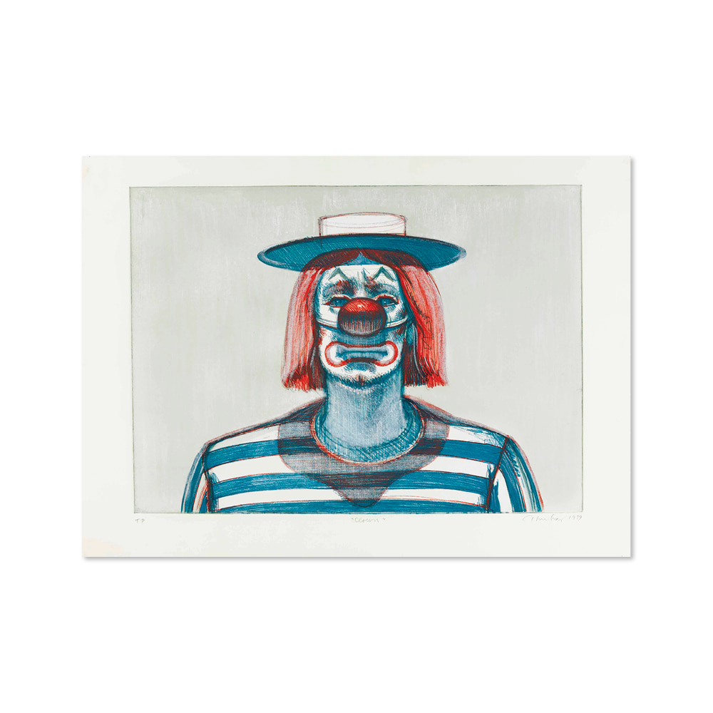 웨인 티보 WAYNE THIEBAUD 008 Clown, from Recent Etchings