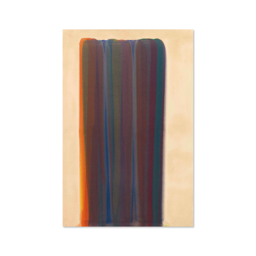 "모리스 루이스 MORRIS LOUIS 002 Gamma signed, titled and dated '""GAMMA"" M. Louis 60'"